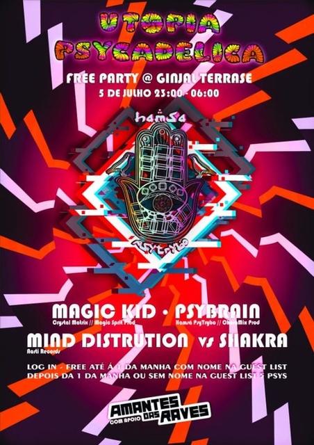 Hamsá PsyTrybo & Utopia Psycadelica ॐ Free Party @Ginjal 5 Jul '19, 23:00