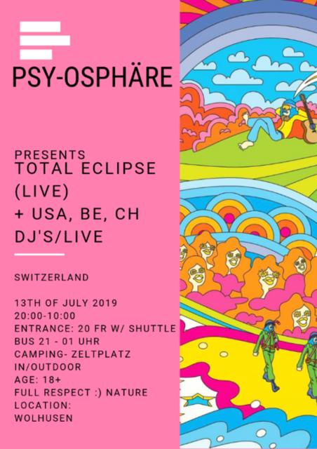 Psy-Ospähre OldShool PsyTrance 13 Jul '19, 20:30