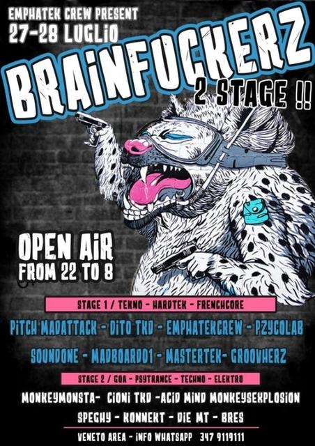 Party Flyer brain fuckerz - 2 stage - veneto area 27 Jul '19, 22:00