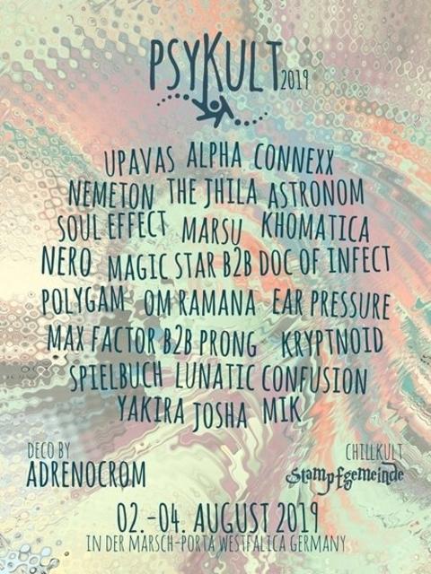 Party Flyer PSYKULT@Festivalkult U&D 2019 2 Aug '19, 20:00