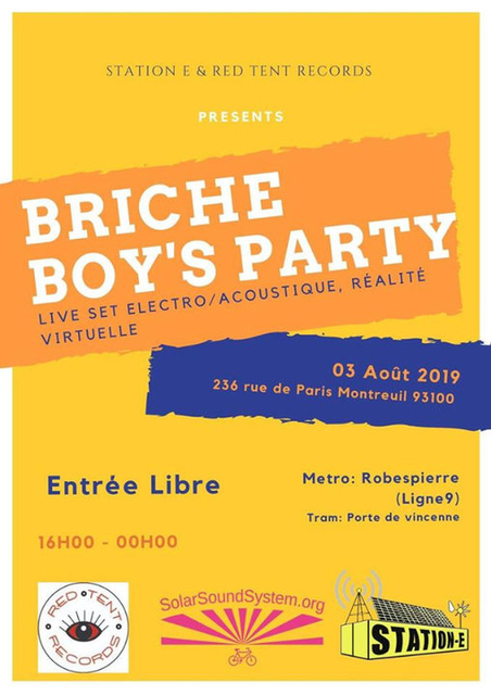 Party Flyer Briche Boy's Party 3 Aug '19, 16:00