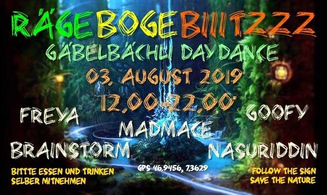 Party Flyer Gäbelbächli DayDance 3 Aug '19, 12:00