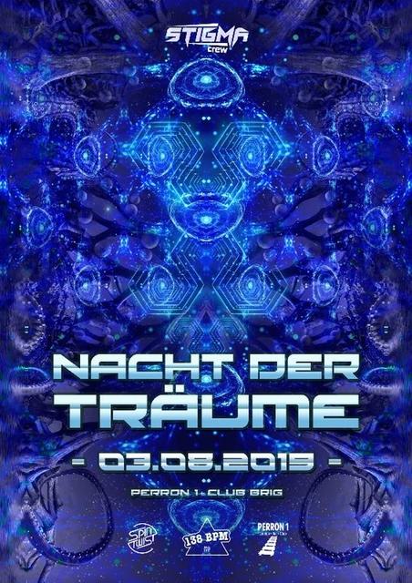 Party Flyer Nacht der Träume 3 Aug '19, 22:00