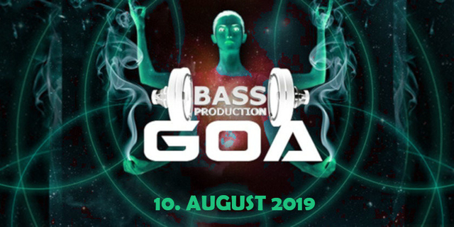 Party Flyer Bassproduction Goa Party 10 Aug '19, 22:00