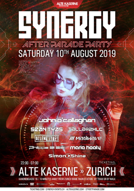 Party Flyer SYNERGY 'After Parade Party' 10 Aug '19, 22:00