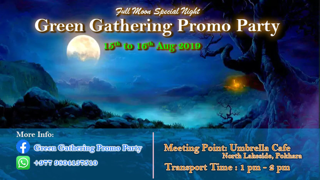 Green Gathering promo party 15 Aug '19, 01:30