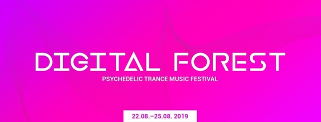 Party Flyer Digital Forest - Psychedelic Trance Music Festival 2019 22 Aug '19, 22:00
