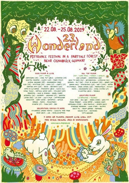 Party Flyer Waldfrieden Wonderland Festival 2019 22 Aug '19, 12:00