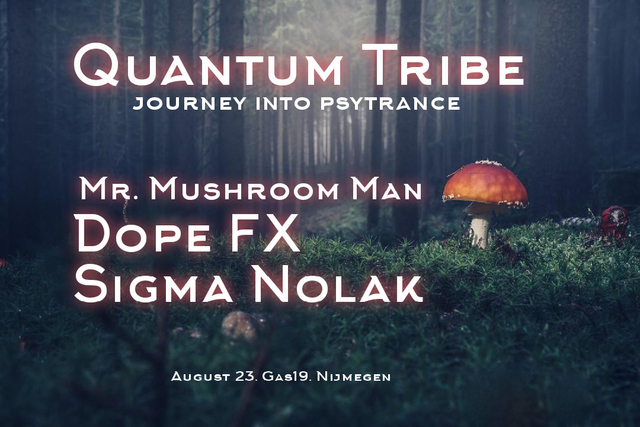 Party Flyer Quantum Tribe (journey into psytrance) 23 Aug '19, 23:00
