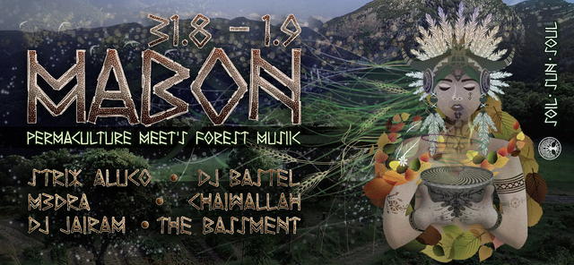 Party Flyer Mabon - Permaculture meets Psycadelic Forest Music 31 Aug '19, 18:00