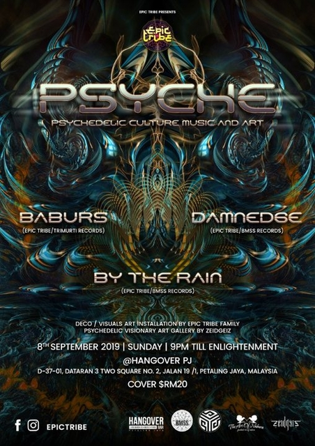 Party Flyer EPIC Tribe pres. PSYCHE 8 Sep '19, 21:00