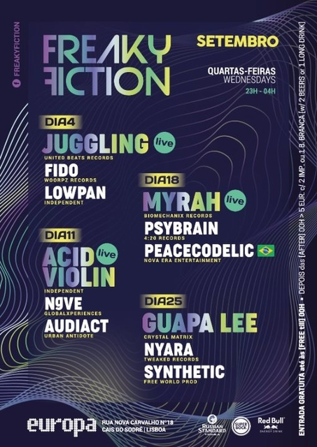Party Flyer FREAKY FICTION 11 Sep '19, 23:00