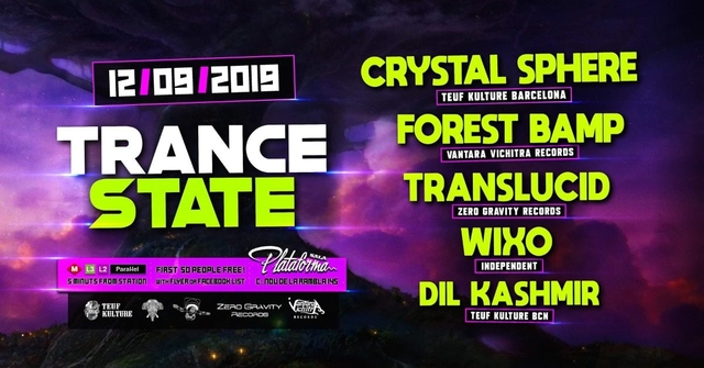 Party Flyer Trance State 12 Sep '19, 23:30