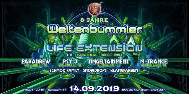 Party Flyer 8 Jahre Weltenbummler 14 Sep '19, 20:00