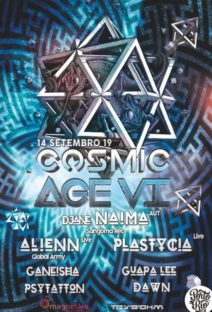 Party Flyer Cosmic Age VI 14 Sep '19, 23:30