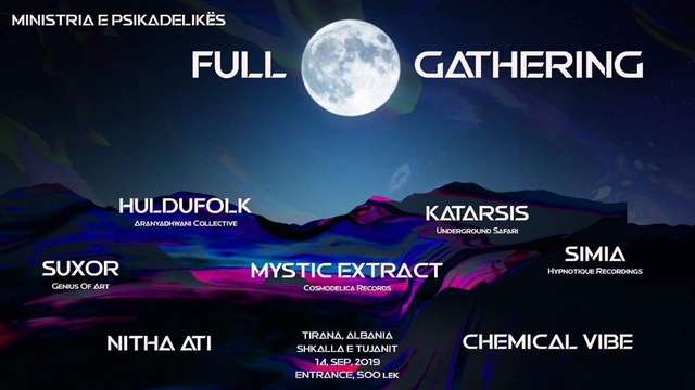 Party Flyer Full Moon Gathering 14 Sep '19, 22:00