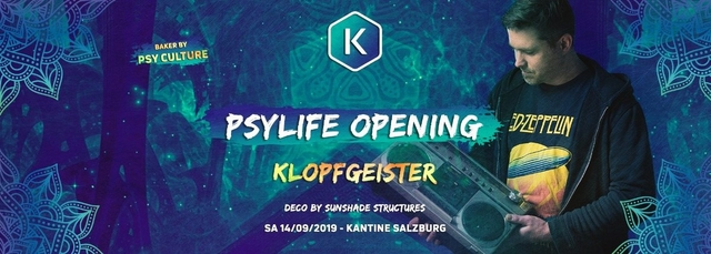 Party Flyer PSYLIFE Opening w/ Klopfgeister 14 Sep '19, 22:00