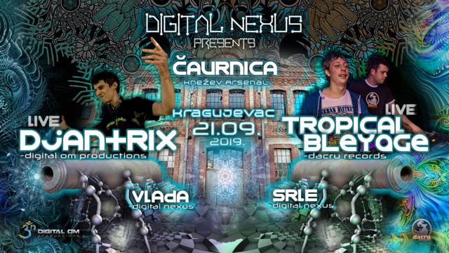 Party Flyer Djantrix & Tropical Bleyage@Kragujevac,Serbia 21 Sep '19, 22:00