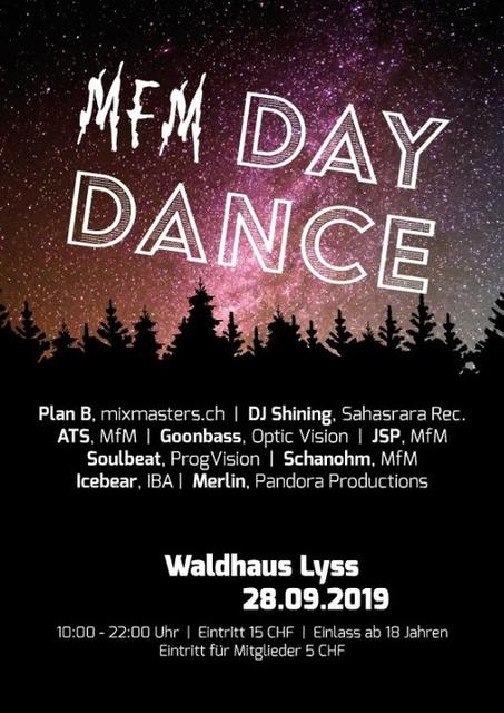 Party Flyer MfM Daydane 28 Sep '19, 10:00