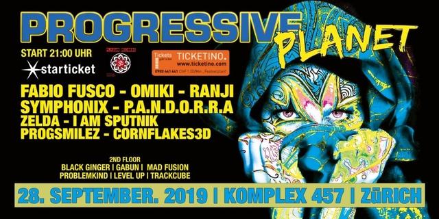 Party Flyer Progressive Planet 28 Sep '19, 21:00