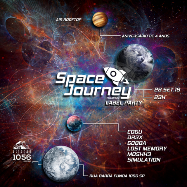Party Flyer Space Journey Records Label Party 28 Sep '19, 23:00