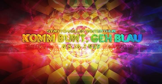 Party Flyer Komm Bunt Geh Blau /Major7&X-Noize/ 5 Oct '19, 23:00
