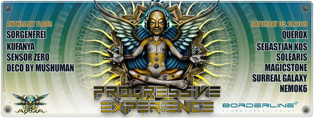 Party Flyer Progressive Experience meets Agora with Querox 5 Oct '19, 23:00