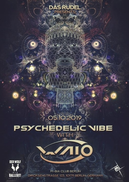 Party Flyer Psychedelic VIBE /w Waio / Psy,Prog & Techno 5 Oct '19, 23:00