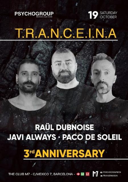 Party Flyer T.R.A.N.C.E.I.N.A 19 Oct '19, 23:30