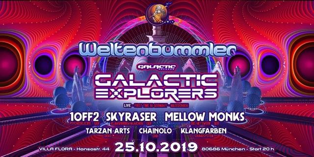 Party Flyer Weltenbummler w/ GALACTIC EXPLORERS 25 Oct '19, 22:00