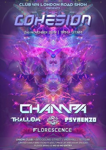 Party Flyer Cohesion 2 Nov '19, 23:00