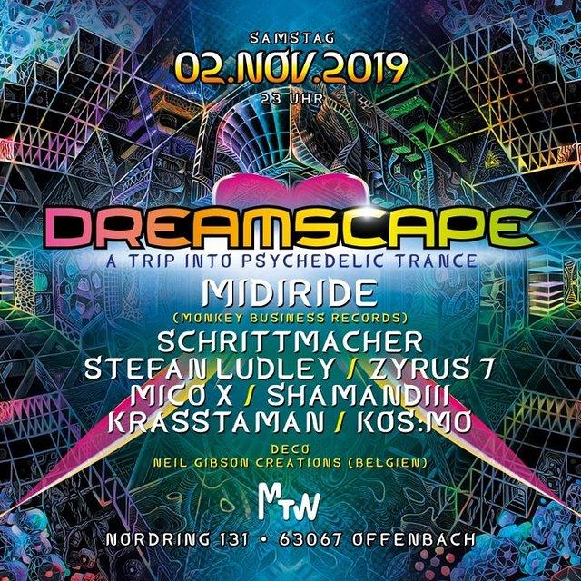 Dreamscape with Midiride & Neil Gibson 2 Nov '19, 23:00