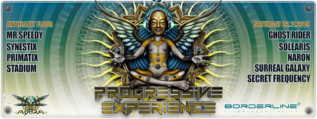Party Flyer Progressive Experience with Ghost Rider 2 Nov '19, 23:00