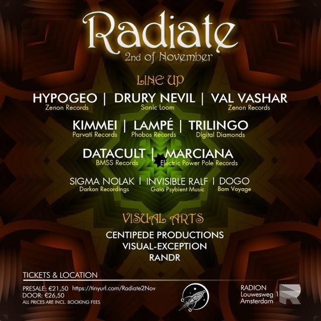 Party Flyer Radiate 2 Nov '19, 23:00