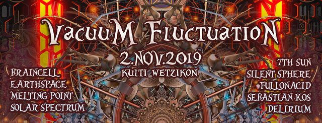 Party Flyer Vacuum Fluctuation 2 Nov '19, 22:00