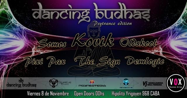 Party Flyer Dancing Budhas 100% Psytrance Edition 8 Nov '19, 23:30