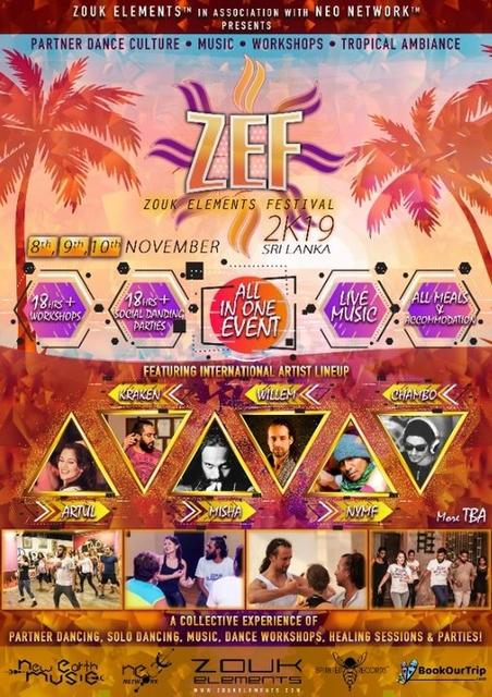 Party Flyer ZEF 2K19 Sri Lanka in association with NEO Network 8 Nov '19, 16:00
