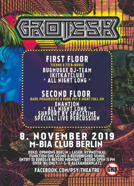 Party Flyer Grotesk by Psychedelic Theatre 8 Nov '19, 23:00
