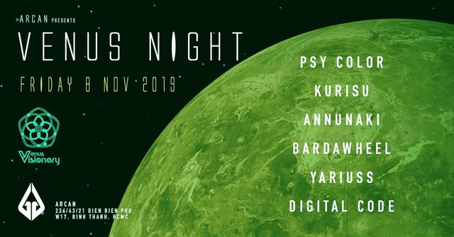 Party Flyer Venus Night 8 Nov '19, 22:00