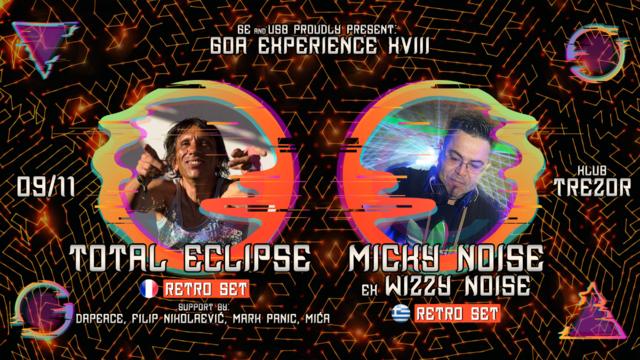 Party Flyer GOA EXPERIENCE XVIII 9 Nov '19, 23:00