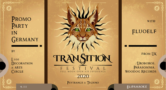 Party Flyer Transition Festival 2020 Promo Party in Germany 9 Nov '19, 23:00