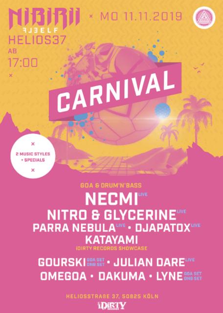 Nibirii Carnival: iDirty Showcase w/ Necmi, Parra + Gourski uvm. 11 Nov '19, 17:00