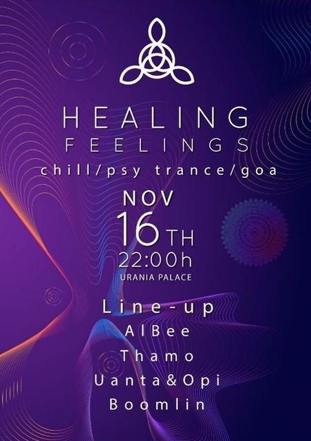Party Flyer Healing Feelings 16 Nov '19, 22:00