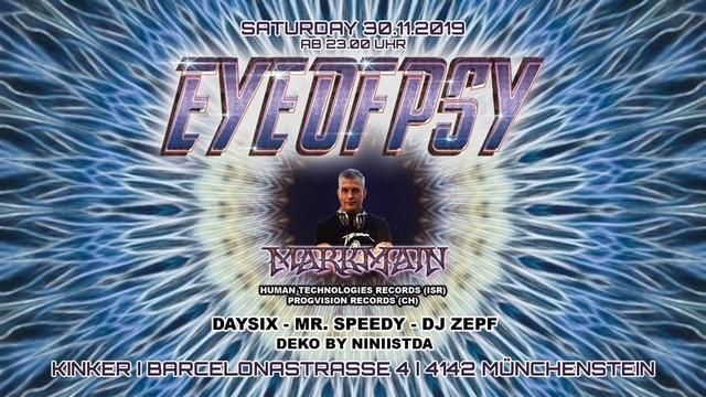 Party Flyer Eye of Psy 30 Nov '19, 23:00