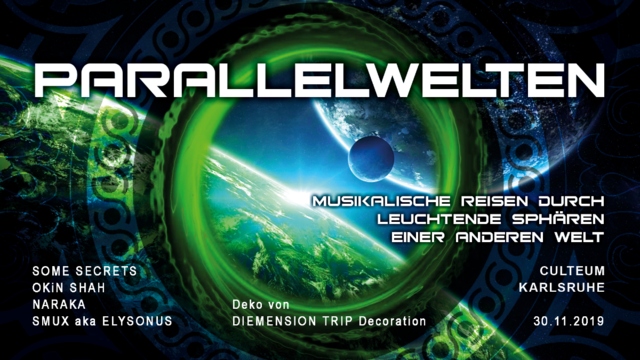 Party Flyer Parallelwelten ॐ 30 Nov '19, 23:00