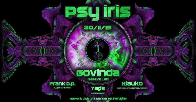 Party Flyer Psy Iris 30 Nov '19, 22:30