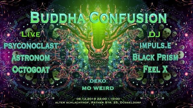 Party Flyer Buddha Confusion 6 Dec '19, 22:00