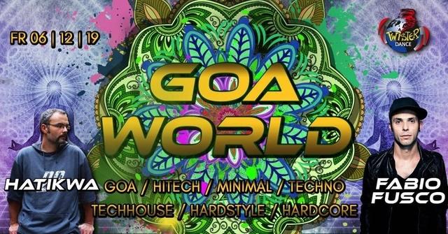 Party Flyer Goa World | Hatikwa | Fabio Fusco | 4 Floors 6 Dec '19, 22:00