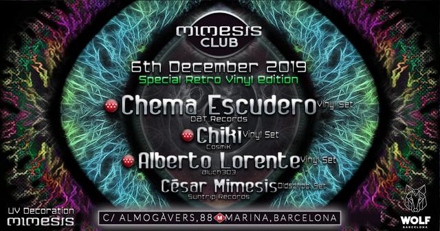 Party Flyer Mimesis CLUB - December / Special Retro Vinyl Edition! 6 Dec '19, 23:30