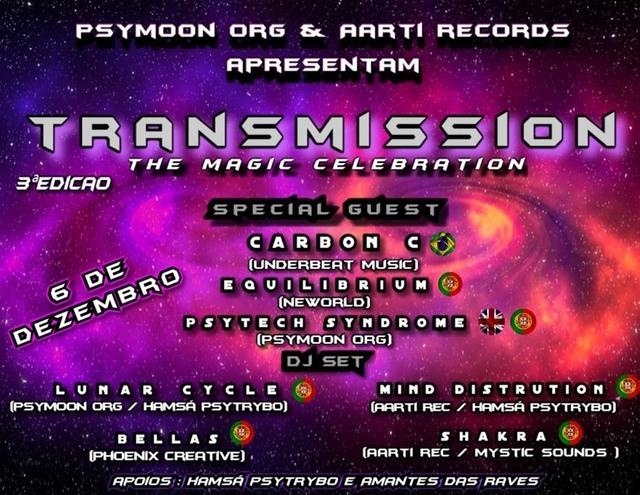 Party Flyer •TranSmission • The Magic Celebration 3aEdição 6 Dec '19, 23:00